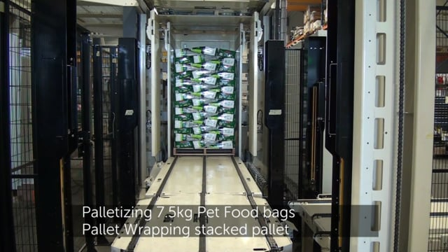 5020 7.5kg Pet Food bags palletizing & wrapping