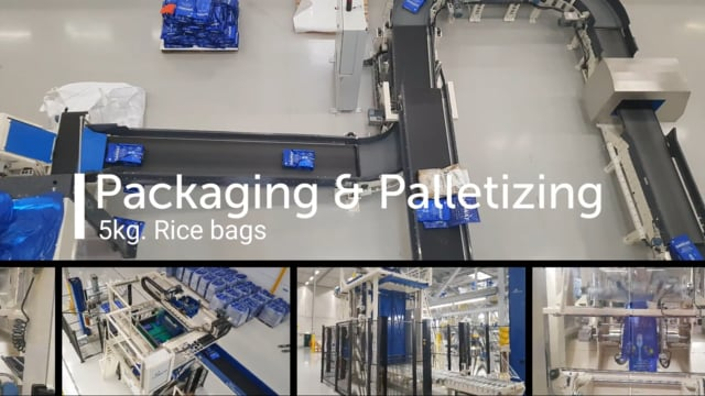 SYMACH Packaging & Palletizing Line for Rice 5kg bags